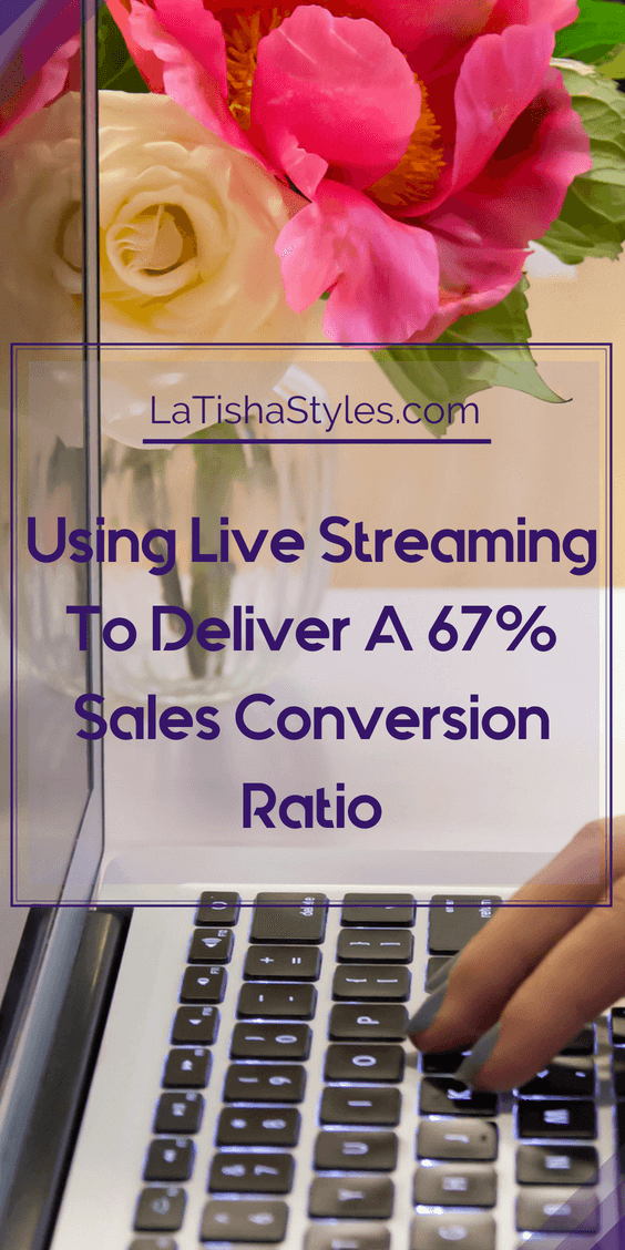 USING LIVE STREAMING TO DELIVER A 67% SALES CONVERSION RATIO - pinterest - temp 1