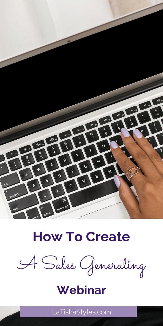 Pinterest - Create A Sales Generating Webinar