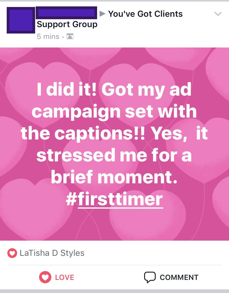coaching ad setup