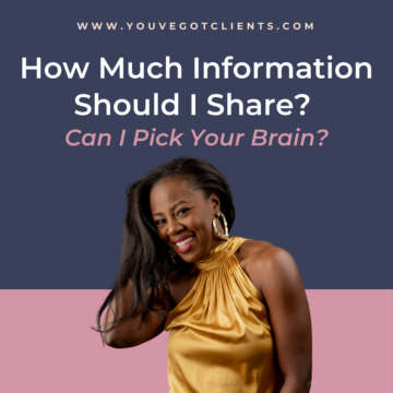 How Much Information Should I Share? Can I Pick Your Brain?
