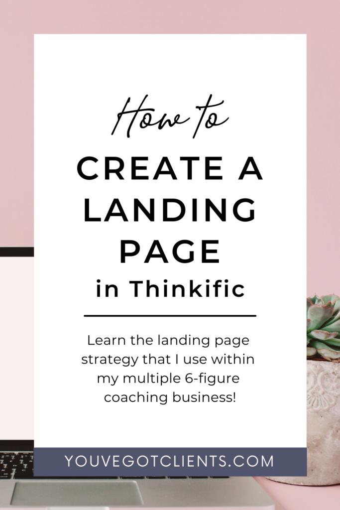 How to create a landing page in thinkific