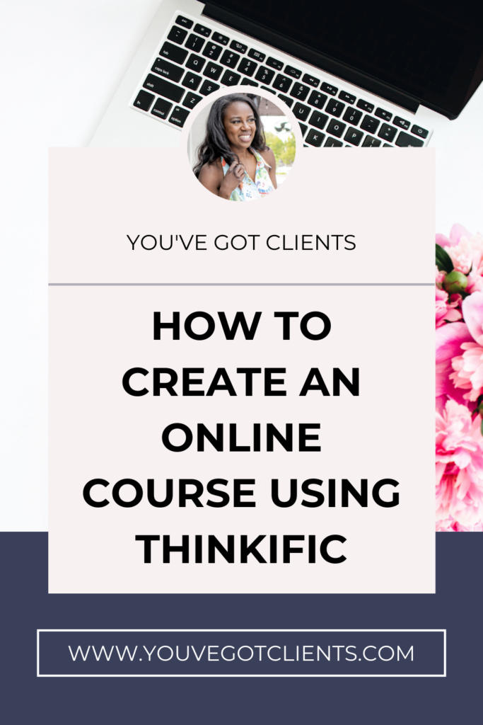 how to create an online course using Thinkific