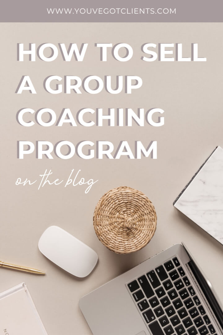 how to sell a group coaching program title image