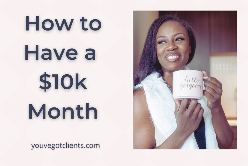 How to have a 10k month blog image